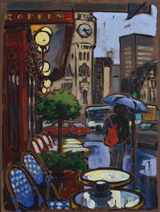 Pluie à Paris par Jeannette Perreault